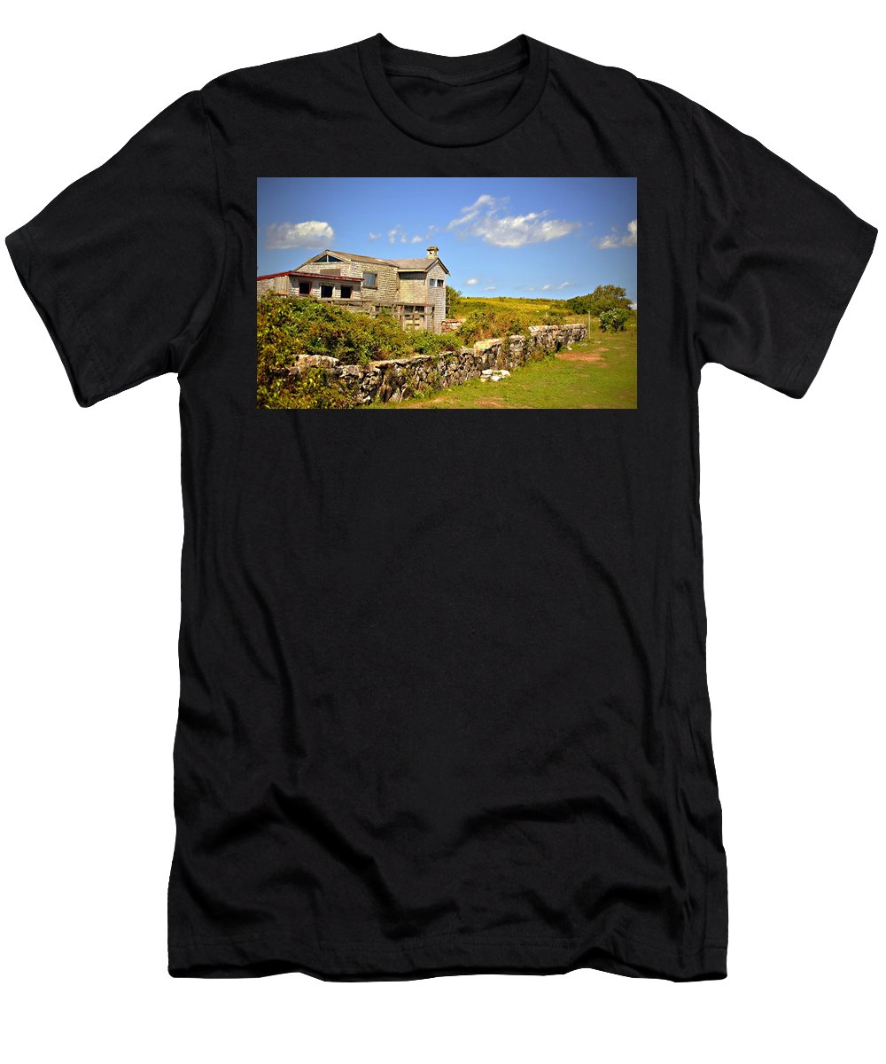 Farm Men's T-Shirt (Athletic Fit) featuring the photograph Island Farm by Marysue Ryan