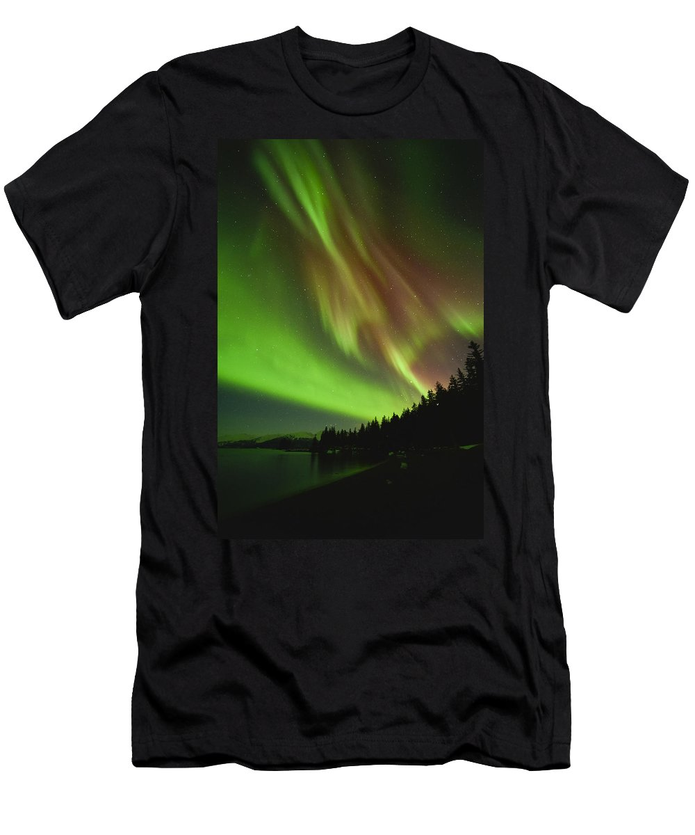 Aurora Men's T-Shirt (Athletic Fit) featuring the photograph The Leaning Tower by Ted Raynor