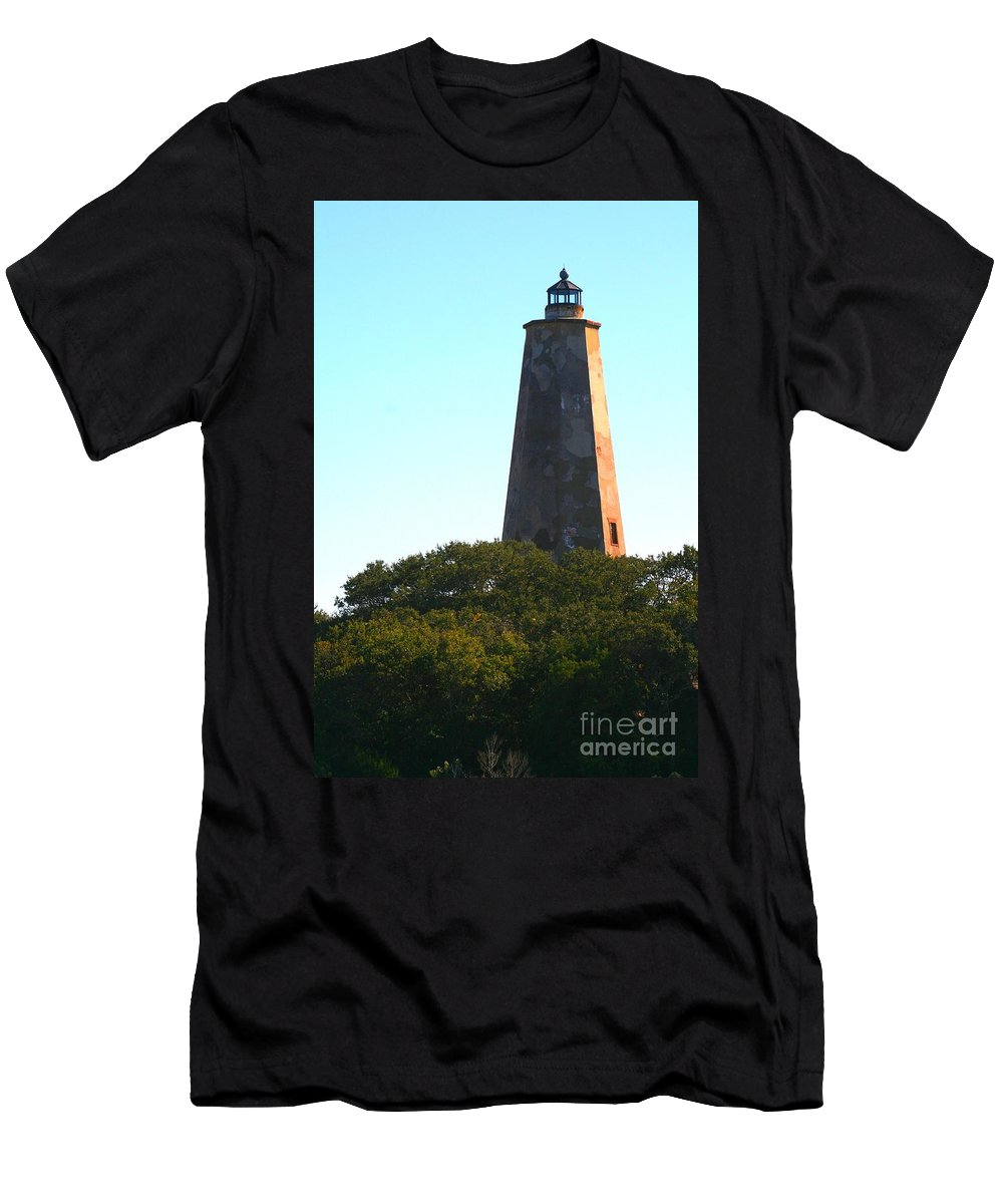 Lighthouse Men's T-Shirt (Athletic Fit) featuring the photograph The Lighthouse by Nadine Rippelmeyer