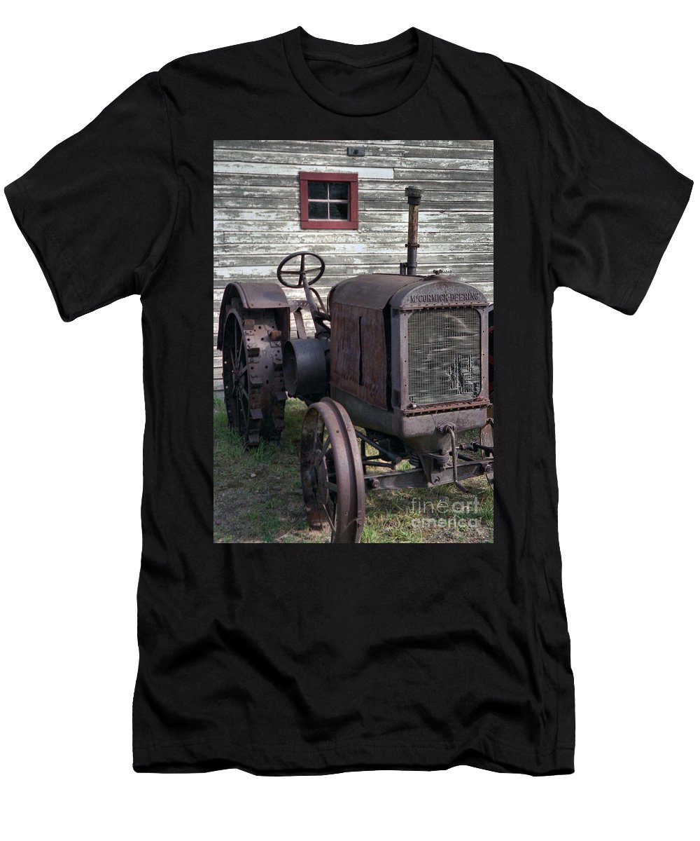 Farm Tractor Men's T-Shirt (Athletic Fit) featuring the photograph The Old Mule by Richard Rizzo