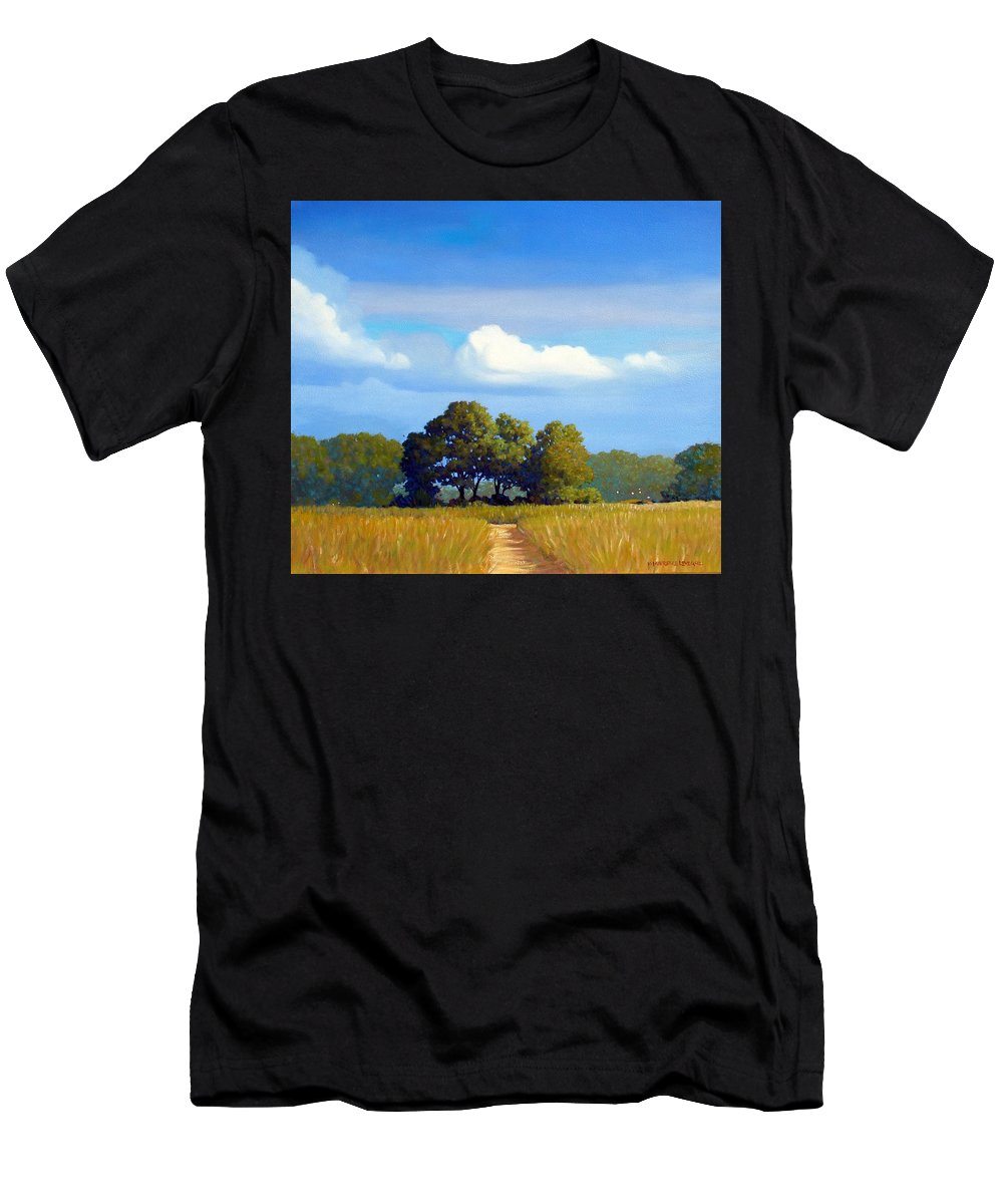 Landscape Men's T-Shirt (Athletic Fit) featuring the painting The Path by Kevin Lawrence Leveque