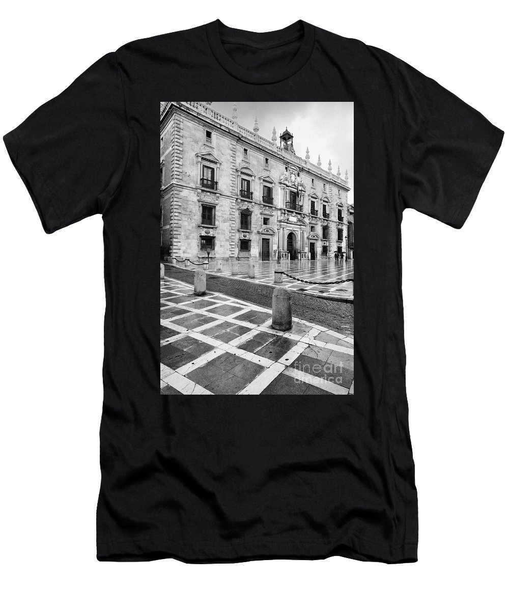 Monochrome Men's T-Shirt (Athletic Fit) featuring the photograph The Royal Chancery Of Granada by Guido Montanes Castillo