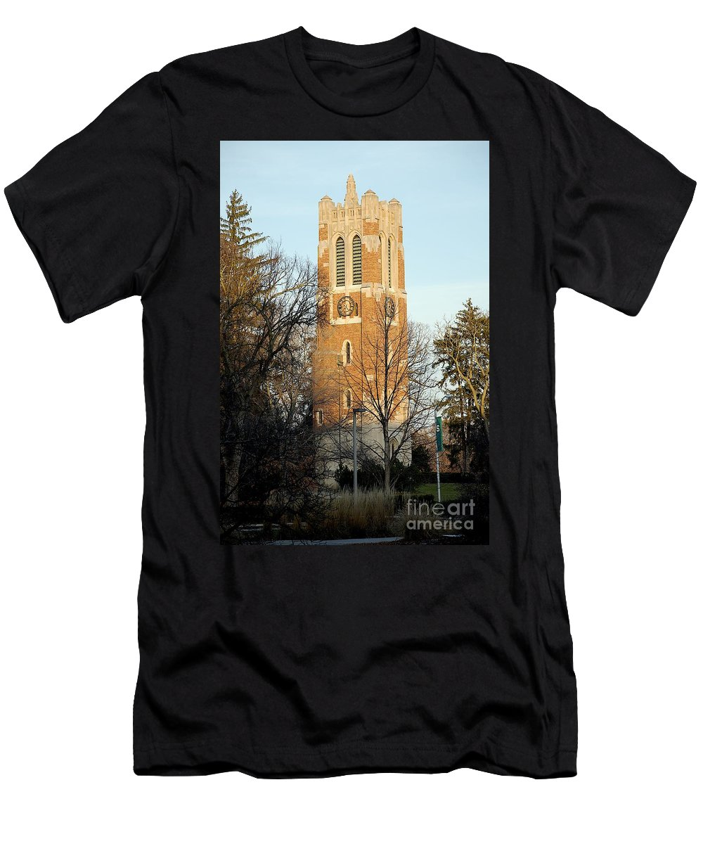 Beaumont Tower Men's T-Shirt (Athletic Fit) featuring the photograph Time by Joseph Yarbrough