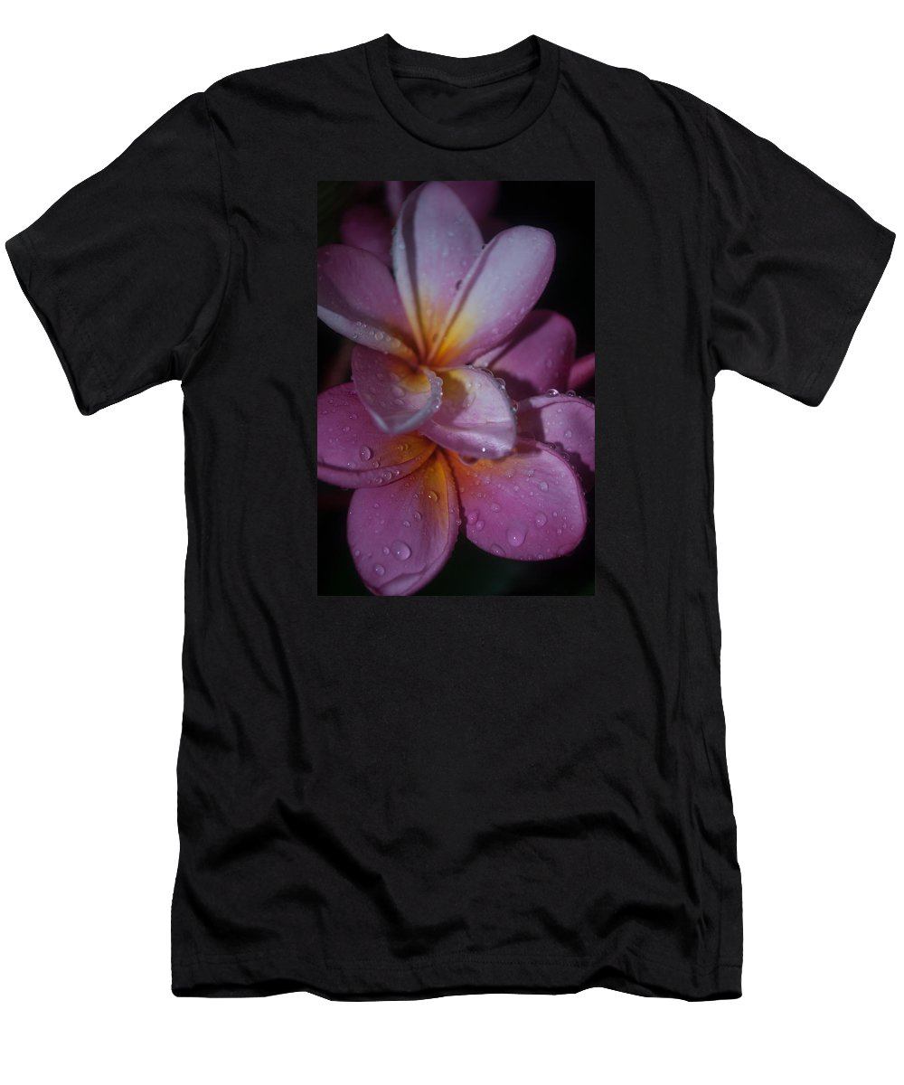 Frangipanis Men's T-Shirt (Athletic Fit) featuring the photograph Tropical Rains by Miguel Winterpacht