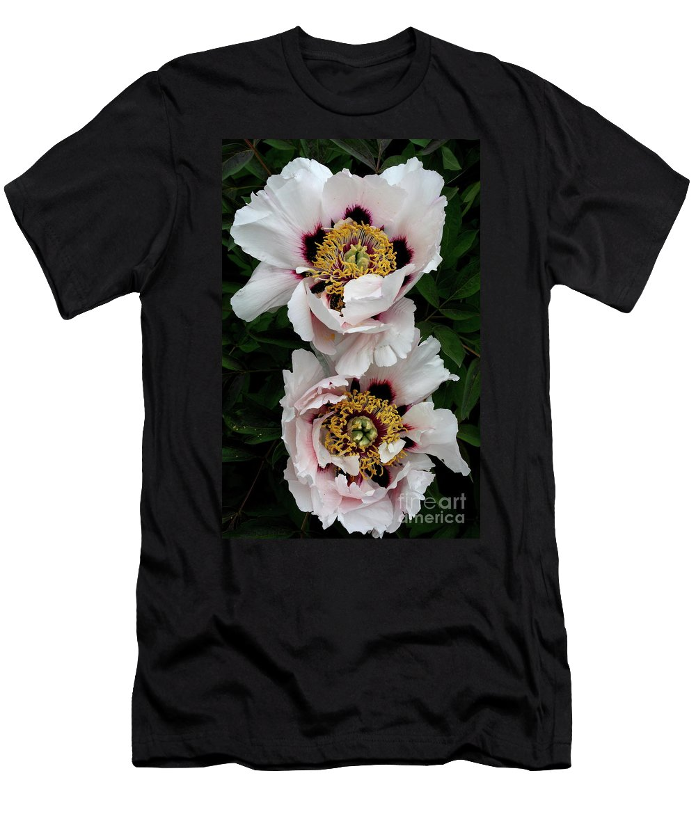 White Peony Men's T-Shirt (Athletic Fit) featuring the photograph Two Together by Christiane Schulze Art And Photography