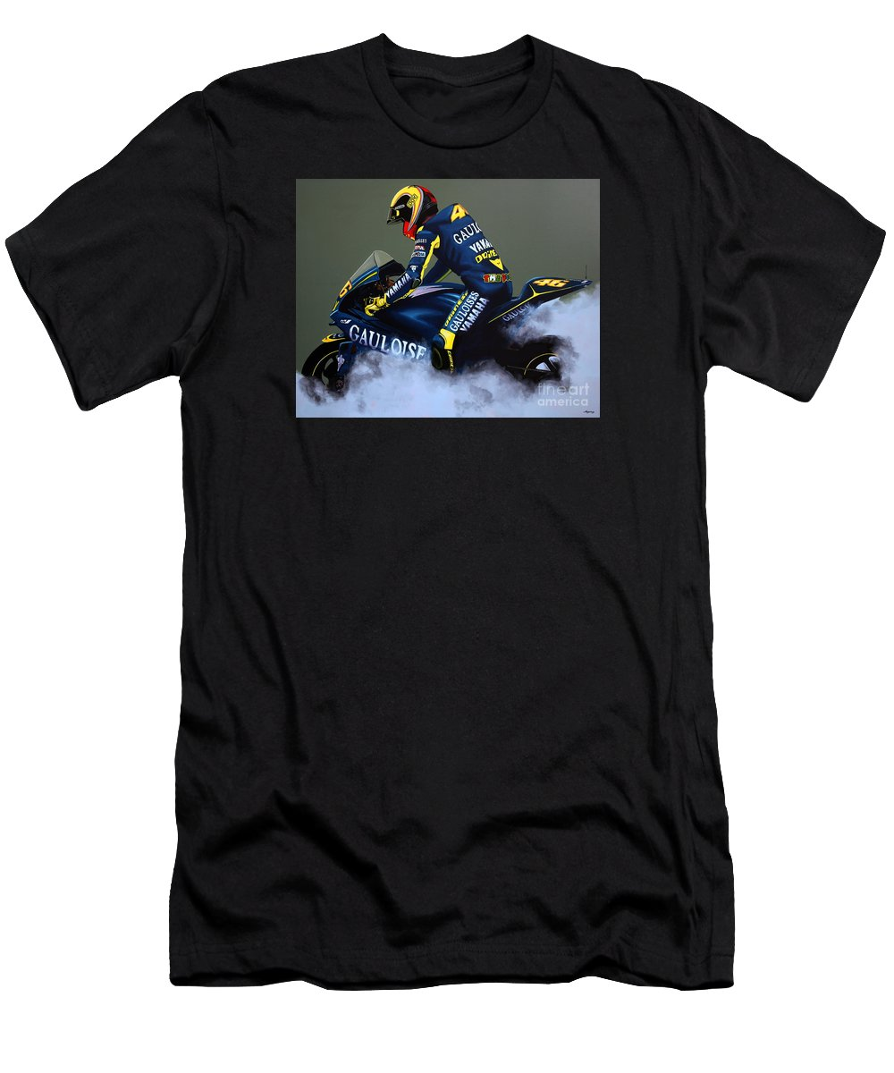 c6fed904c Valentino Rossi Men's T-Shirt (Athletic Fit) featuring the painting  Valentino Rossi by