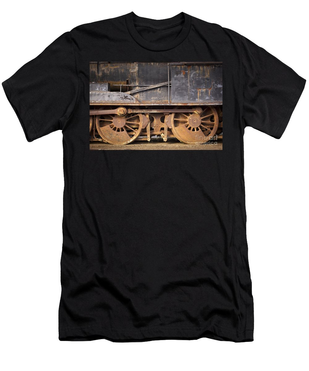 Locomotive Men's T-Shirt (Athletic Fit) featuring the photograph Vintage Train by Tim Hester