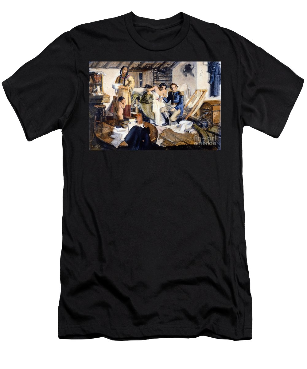 1820s Men's T-Shirt (Athletic Fit) featuring the photograph William Beaumont by Granger