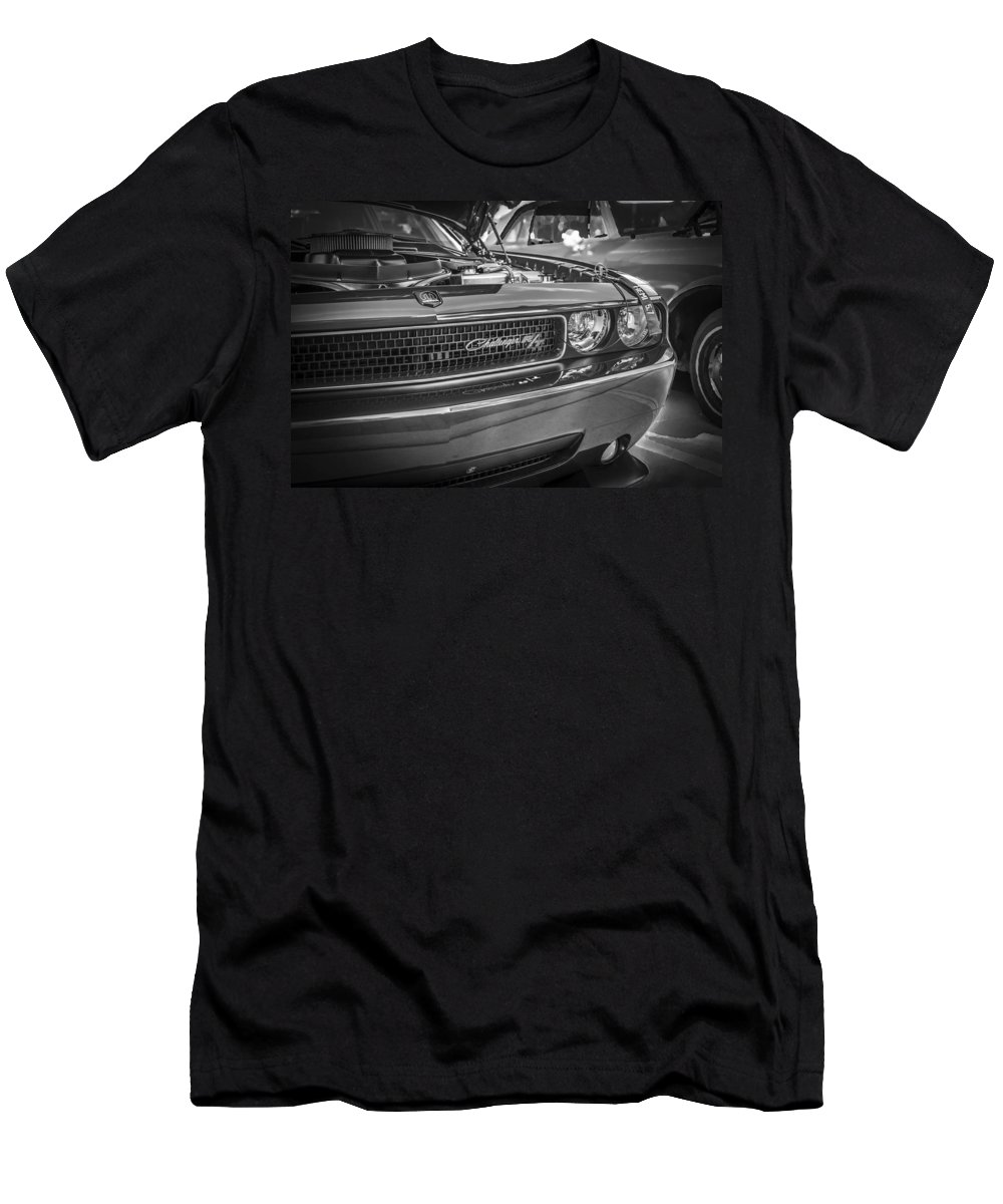 Dodge Men's T-Shirt (Athletic Fit) featuring the photograph 2008 Dodge Challenger by Rich Franco