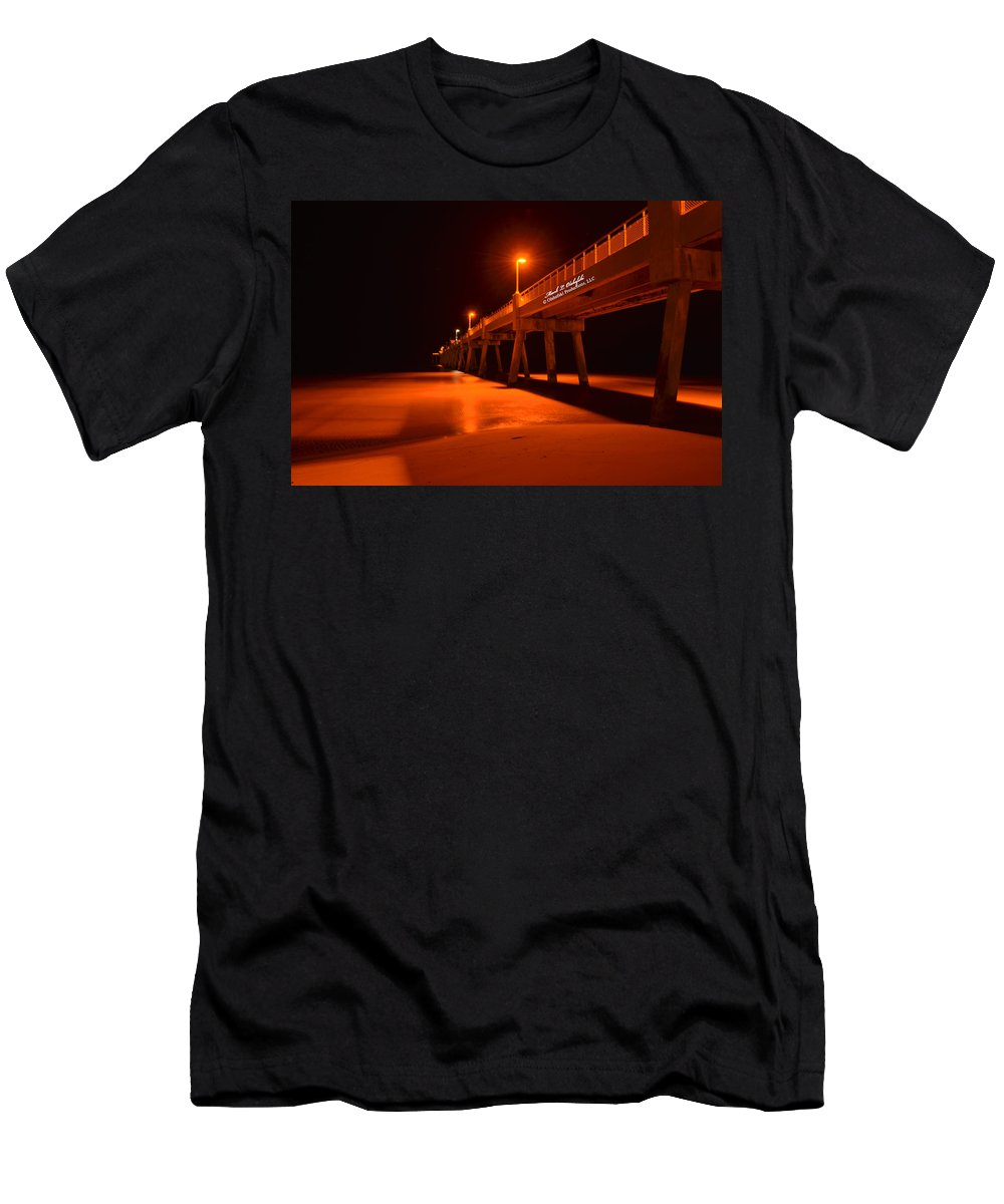 Okalossa Island Pier Men's T-Shirt (Athletic Fit) featuring the photograph 2014 02 06 01 A Okaloosa Island Pier 0195 by Mark Olshefski