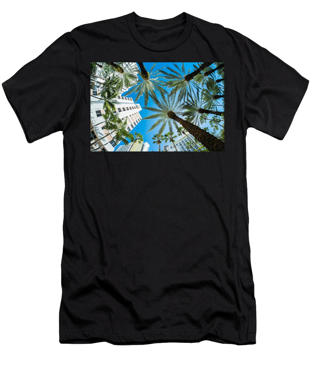 Architecture Men's T-Shirt (Athletic Fit) featuring the photograph Miami Beach by Raul Rodriguez