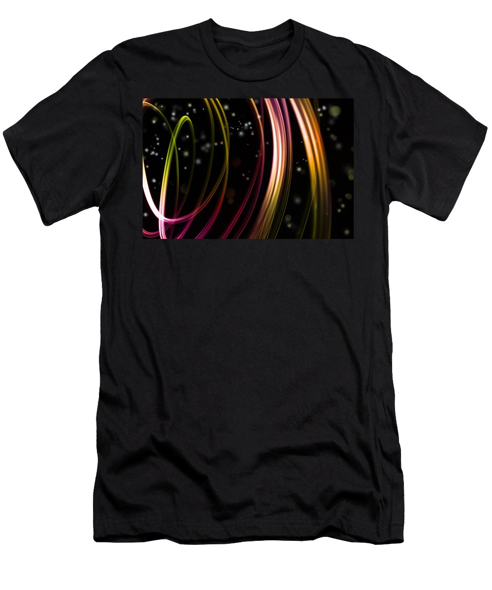 Color Men's T-Shirt (Athletic Fit) featuring the photograph Abstract Background by Les Cunliffe