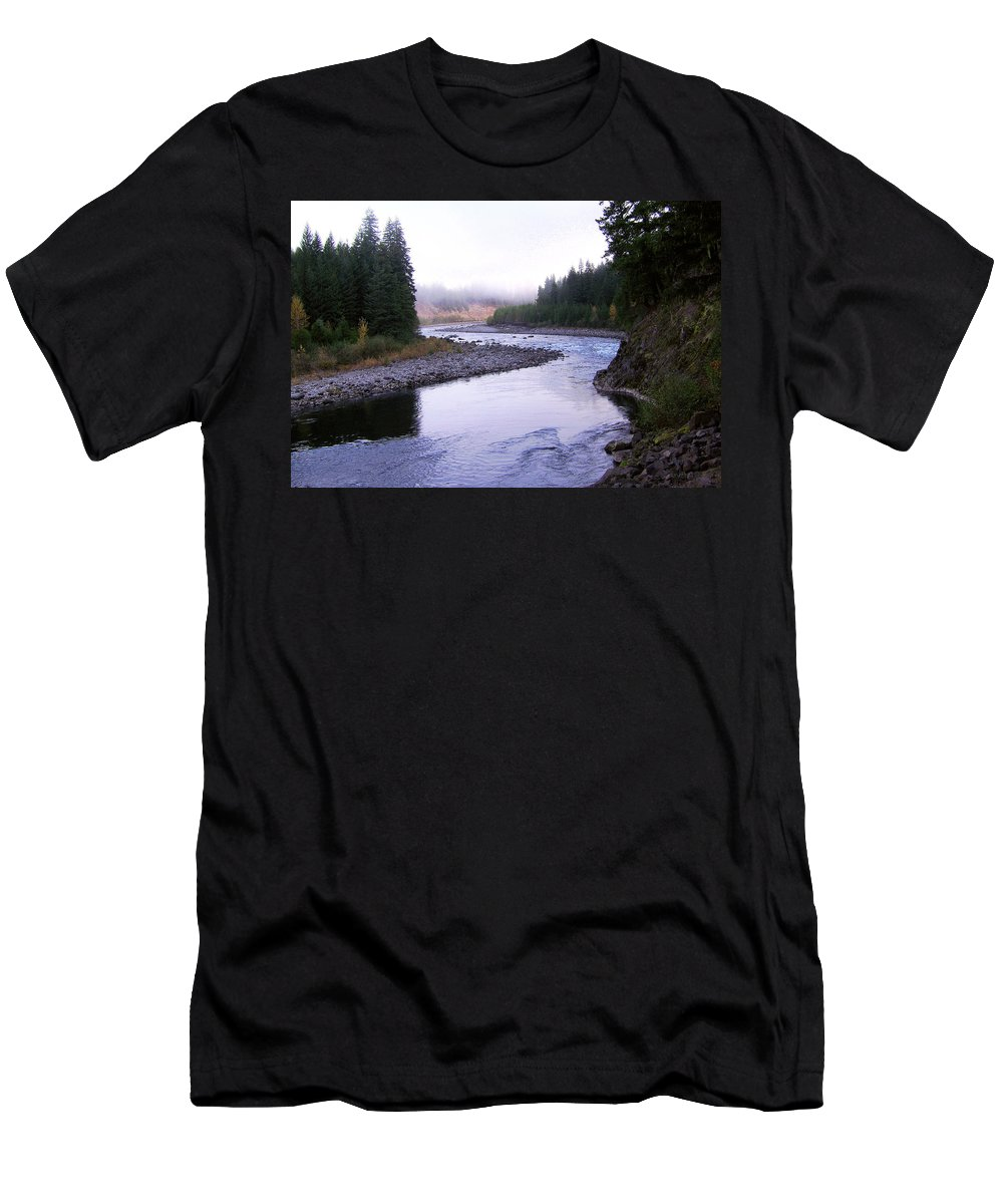 Bloom Men's T-Shirt (Athletic Fit) featuring the photograph A Mountain Stream by J D Owen