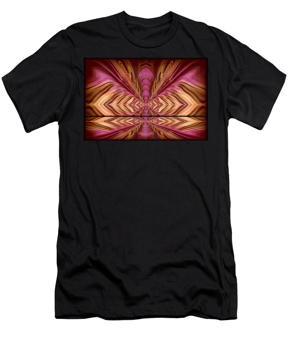 Black And White Men's T-Shirt (Athletic Fit) featuring the painting Abstract 74 by J D Owen