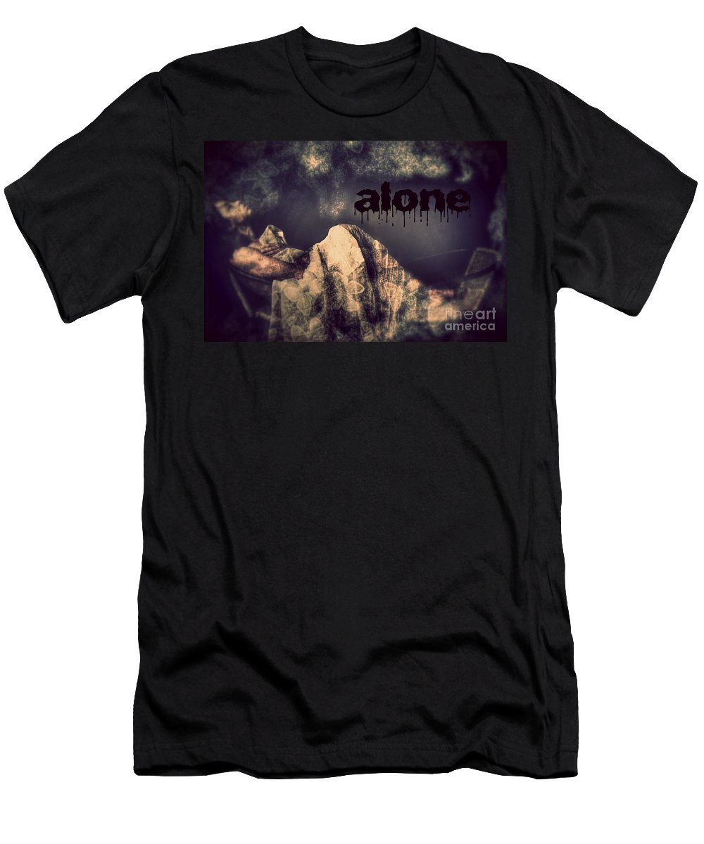 Men's T-Shirt (Athletic Fit) featuring the photograph Alone by Jessica Shelton