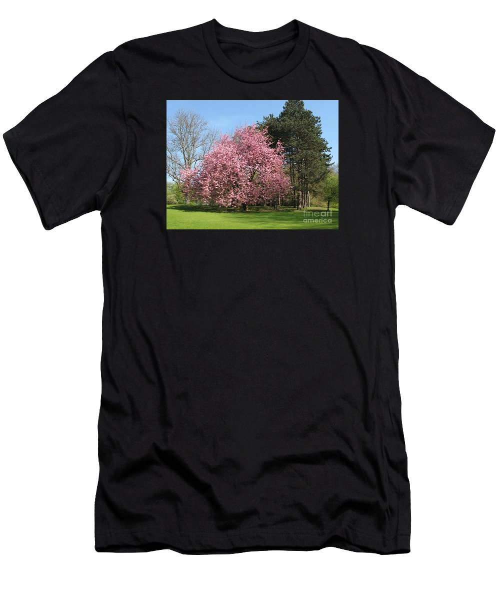 Cherry Tree Men's T-Shirt (Athletic Fit) featuring the photograph Cherry Tree by Christiane Schulze Art And Photography