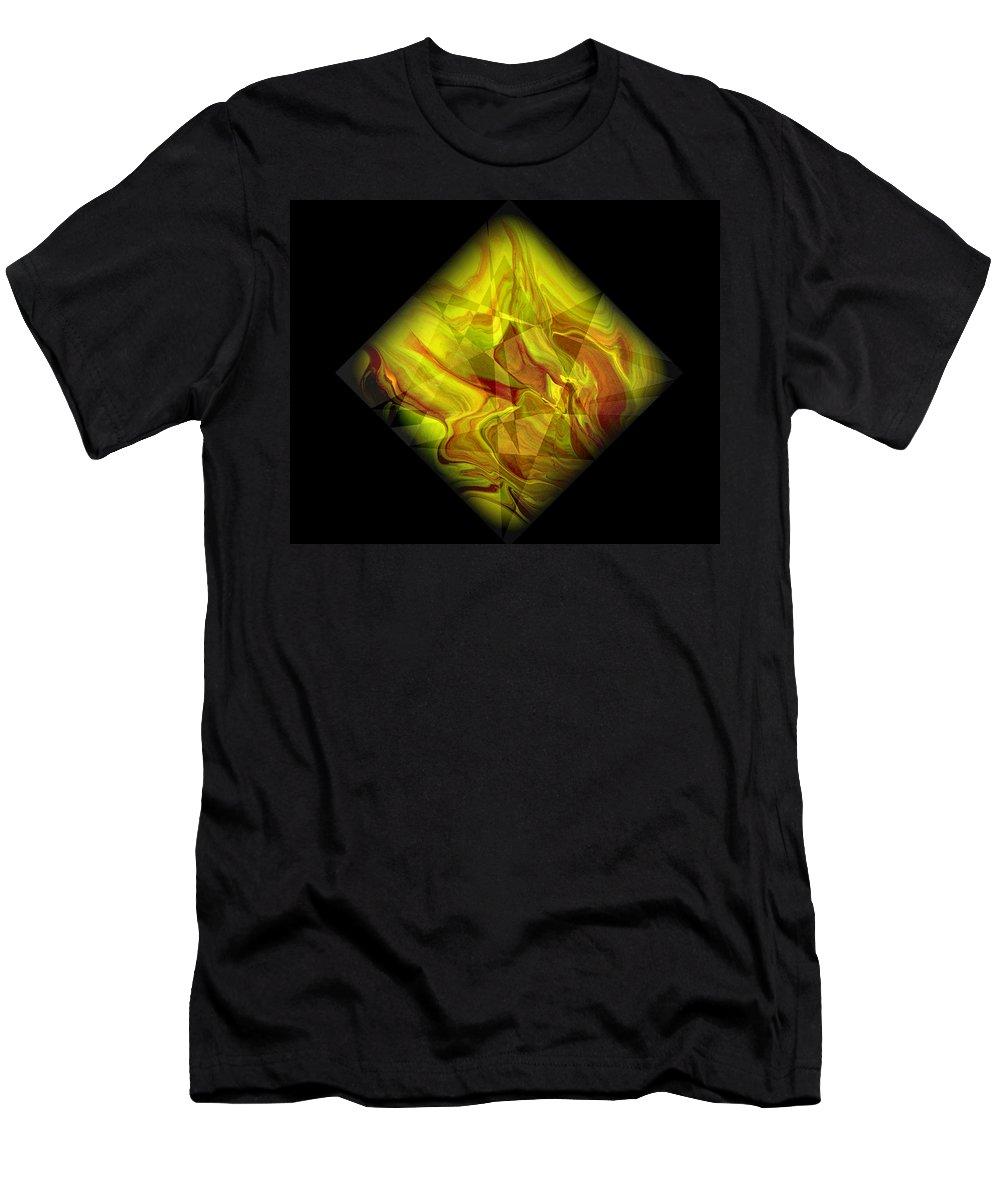 Symmetrical T-Shirt featuring the painting Diamond 105 by J D Owen