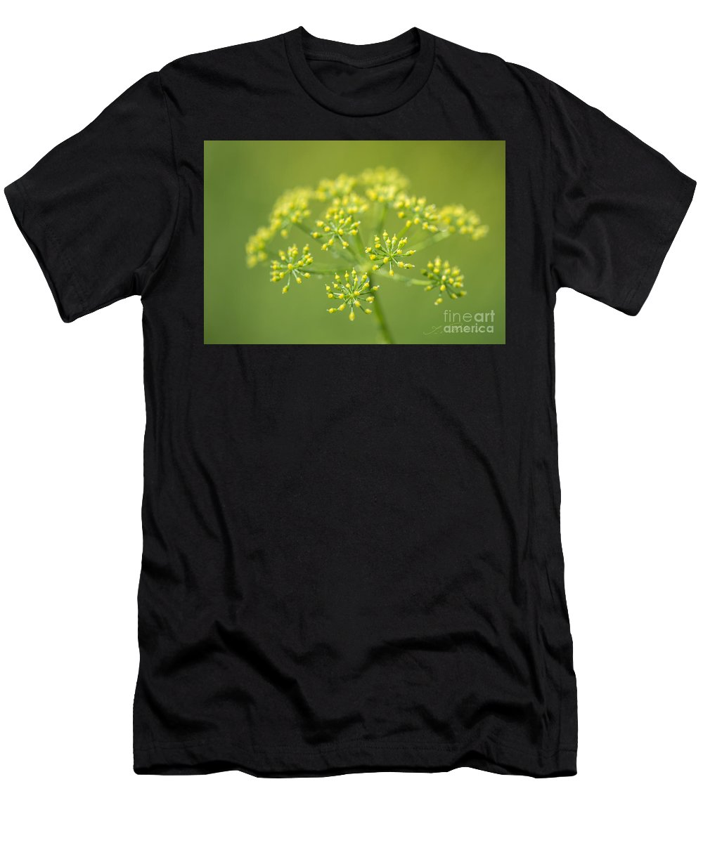Yellow Dill Flower Men's T-Shirt (Athletic Fit) featuring the photograph Yellow Dill Flower by Iris Richardson