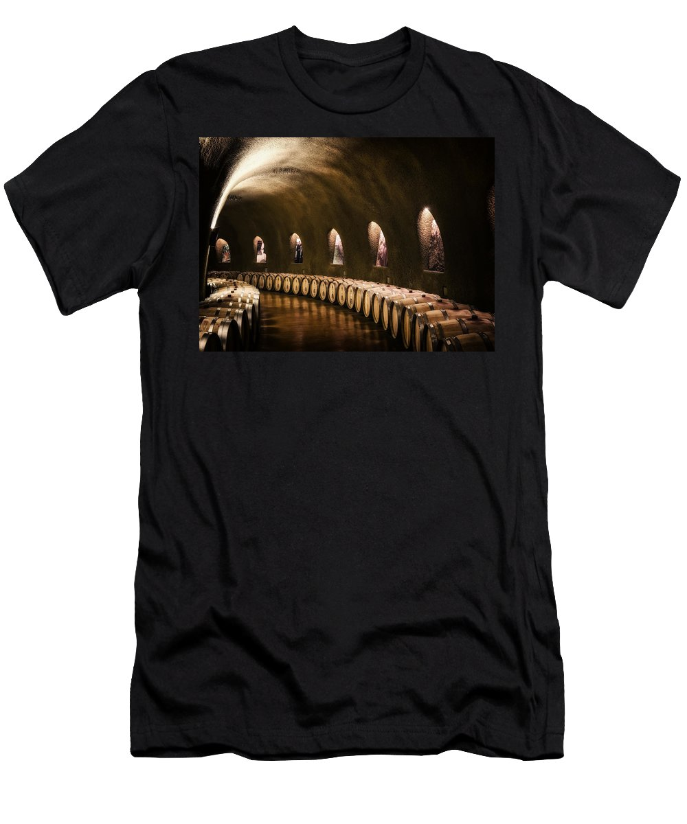 Napa Valley Men's T-Shirt (Athletic Fit) featuring the photograph Fruits Of The Vine by Mountain Dreams