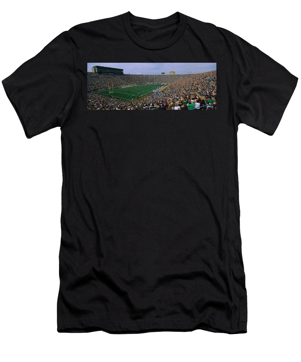 Photography Men's T-Shirt (Athletic Fit) featuring the photograph High Angle View Of A Football Stadium 3 by Panoramic Images