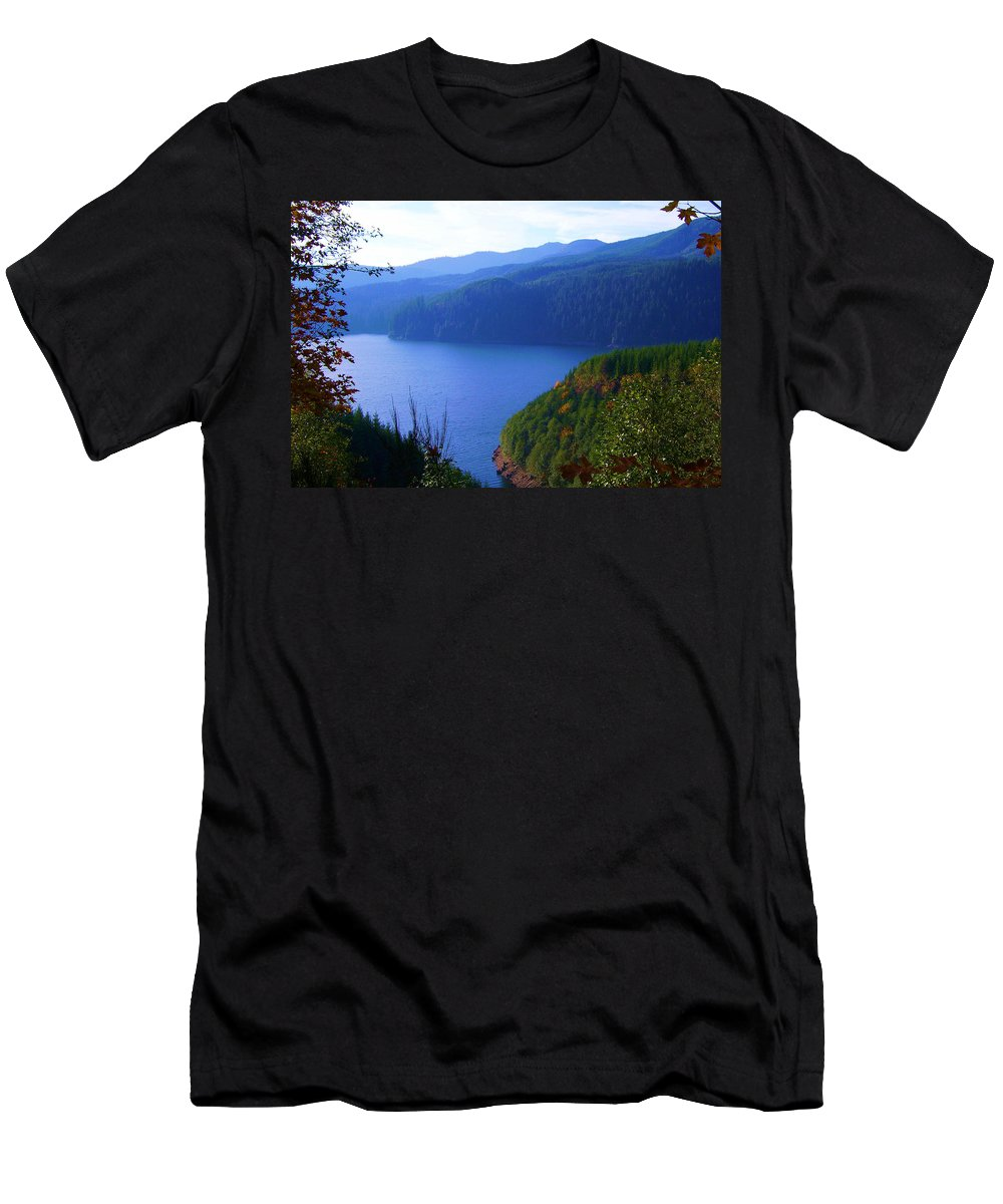 Bloom Men's T-Shirt (Athletic Fit) featuring the photograph Lakes 6 by J D Owen