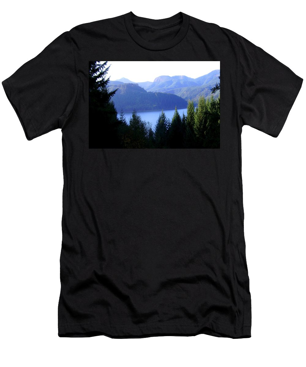 Bloom Men's T-Shirt (Athletic Fit) featuring the photograph Lakes 8 by J D Owen