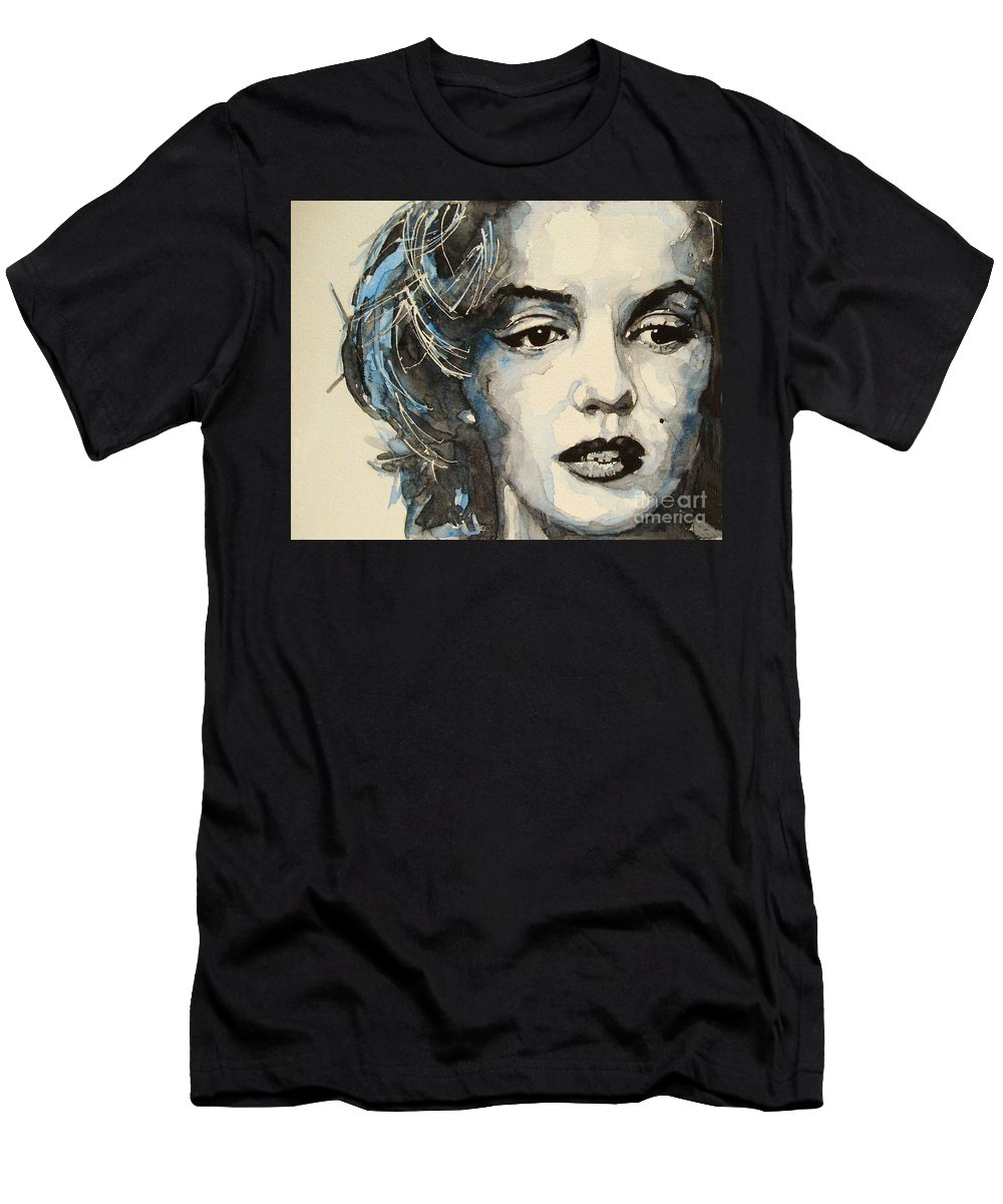 Marilyn Monroe Men's T-Shirt (Athletic Fit) featuring the painting Marilyn by Paul Lovering