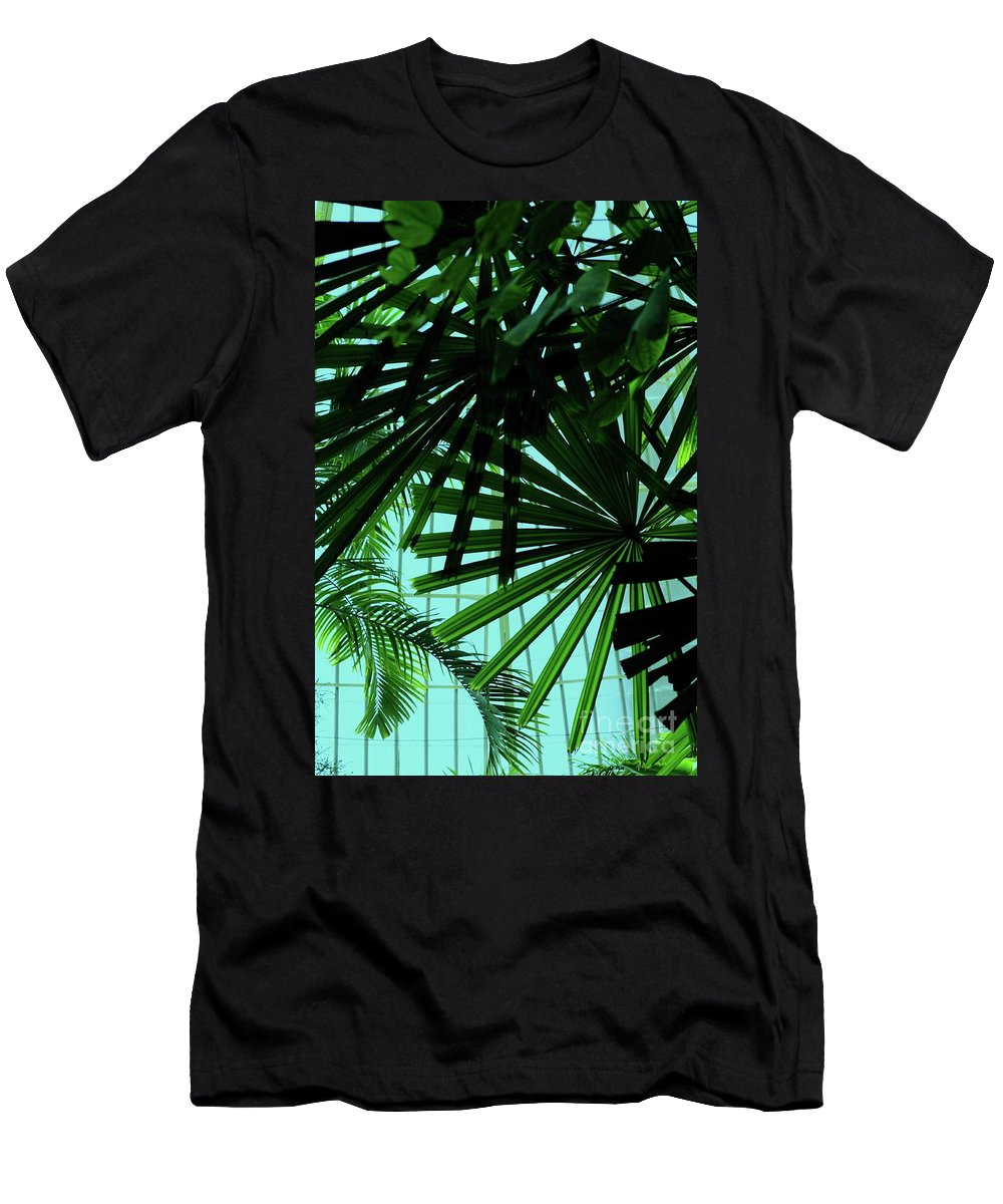 Palm Men's T-Shirt (Athletic Fit) featuring the photograph Palm Trees by Kathleen Struckle