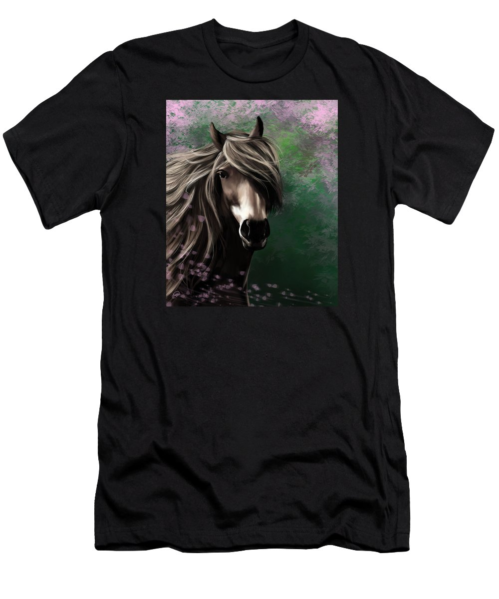 Horse Men's T-Shirt (Athletic Fit) featuring the digital art Patience by Kate Black