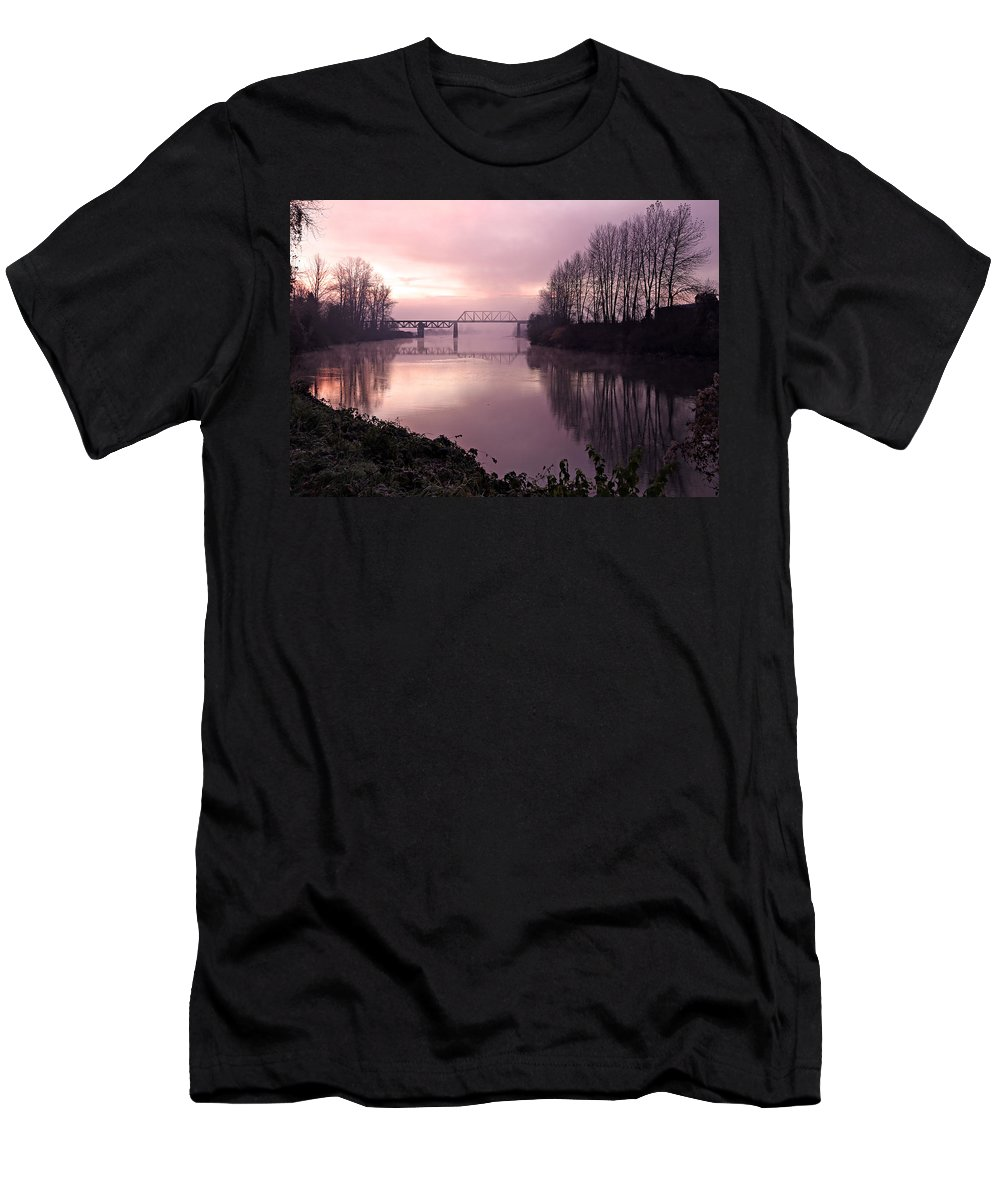 Snohomish Men's T-Shirt (Athletic Fit) featuring the photograph Snohomish by Paul Fell