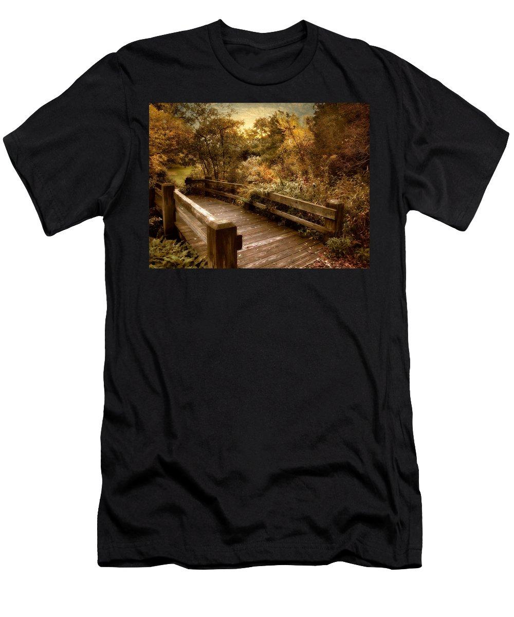 Nature Men's T-Shirt (Athletic Fit) featuring the photograph Splendor Bridge by Jessica Jenney