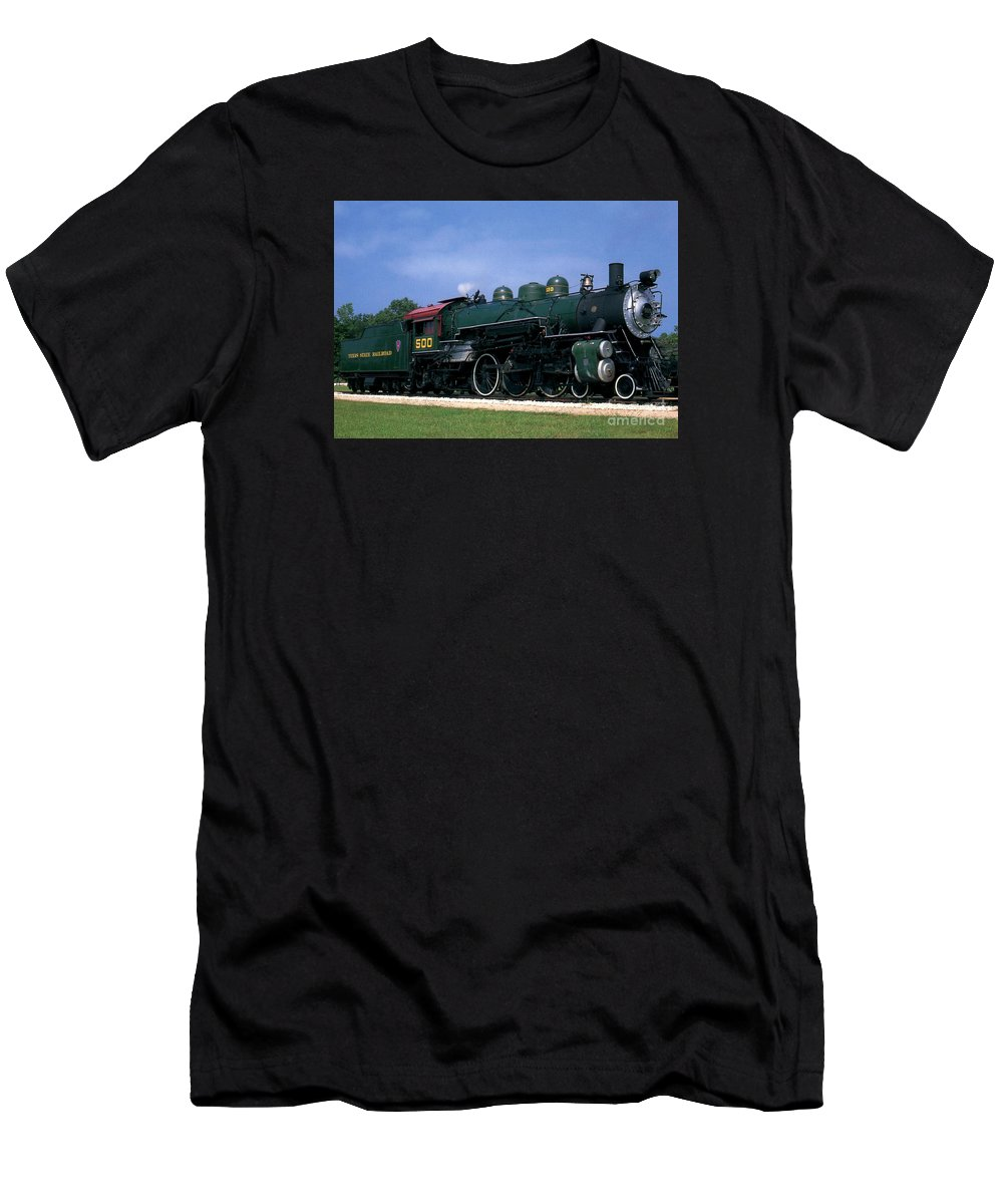 Texas State Railroad Men's T-Shirt (Athletic Fit) featuring the photograph Texas State Railroad by Ruth Housley