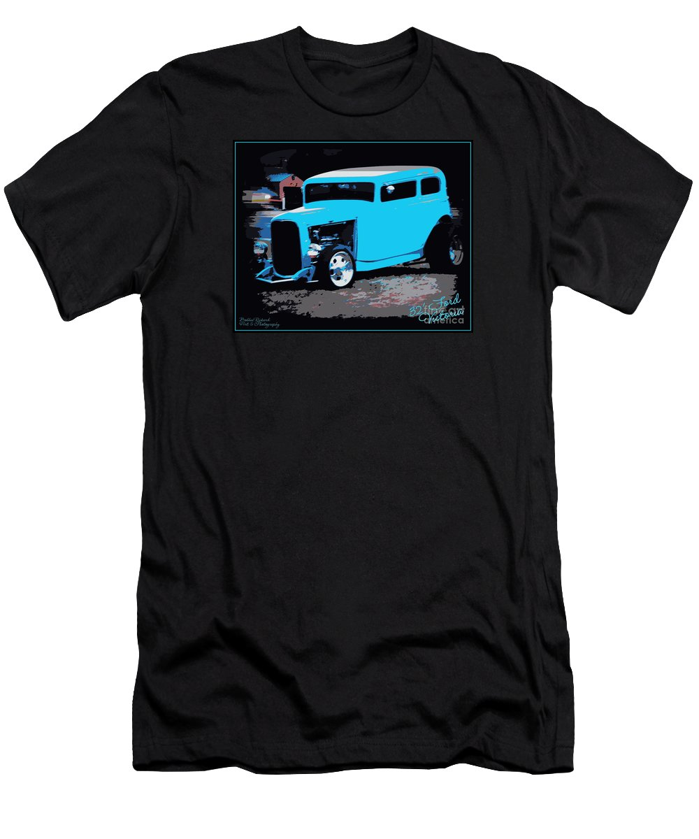 32 Ford Men's T-Shirt (Athletic Fit) featuring the photograph 32 Ford Victoria by Bobbee Rickard
