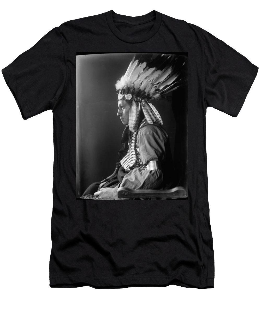 1900 Men's T-Shirt (Athletic Fit) featuring the photograph Sioux Native American, C1900 by Granger