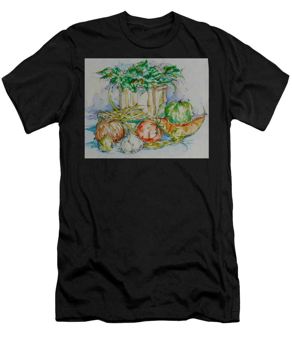 Vegetables Men's T-Shirt (Athletic Fit) featuring the painting 34. It's All Good For You by Elaine Wilson