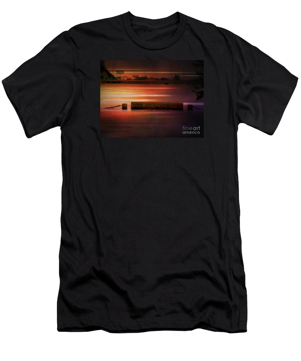 Men's T-Shirt (Athletic Fit) featuring the photograph 37 Feet Past Flood Stage 2 by Kelly Awad