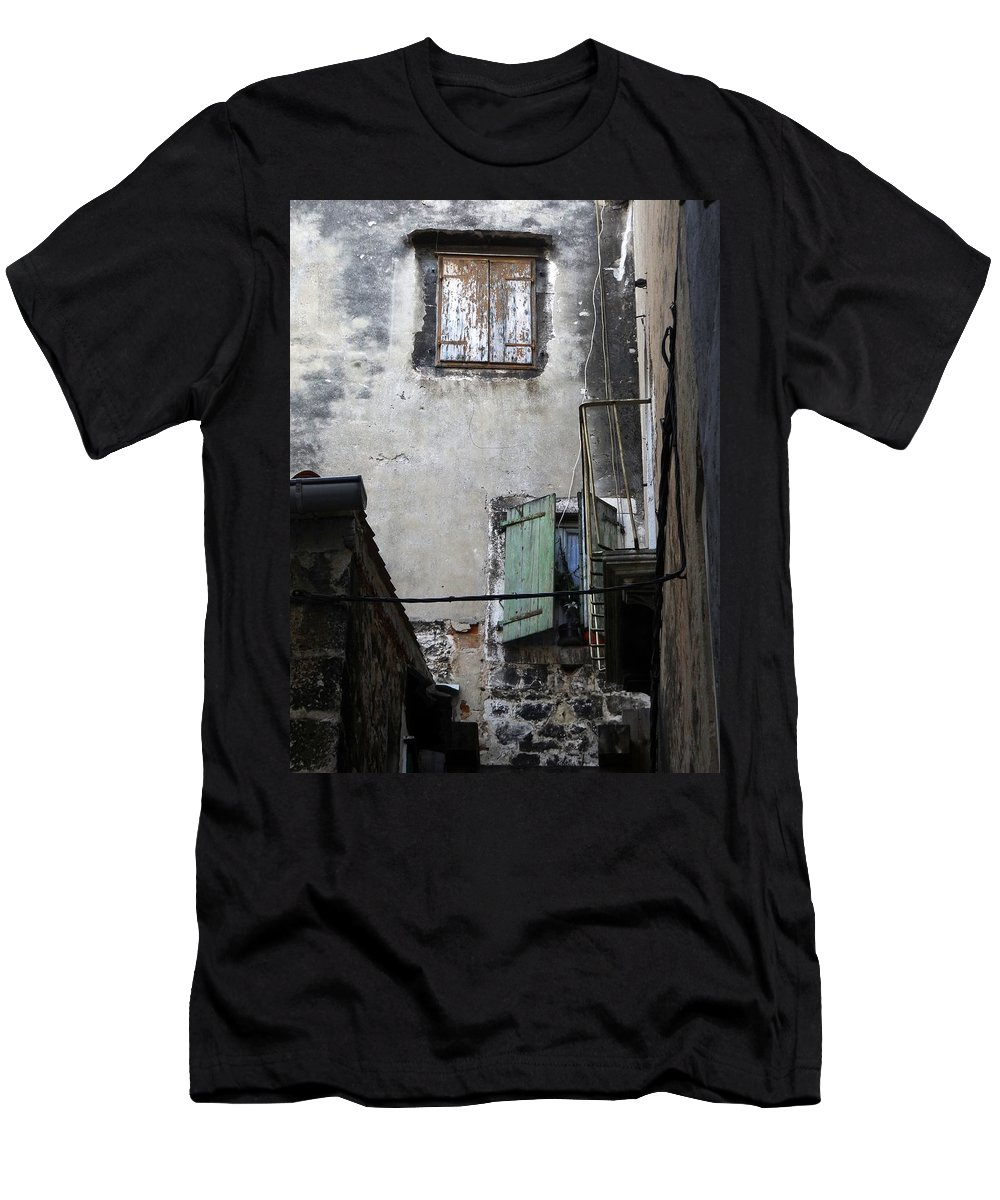 Croatia Men's T-Shirt (Athletic Fit) featuring the photograph Views Of Split Croatia by Richard Rosenshein