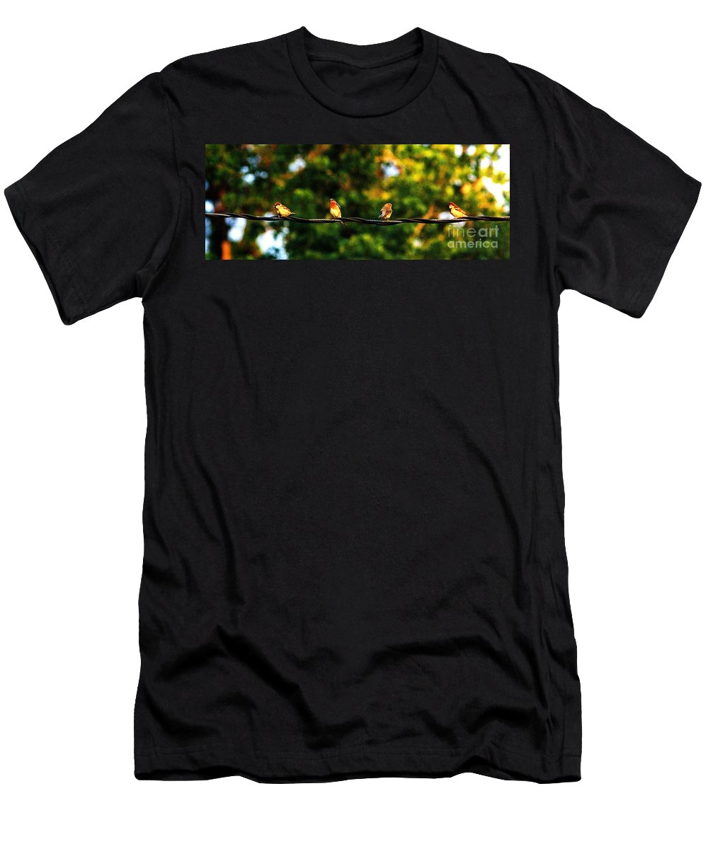 Color Photography T-Shirt featuring the photograph 4 Birds by Leon Hollins III