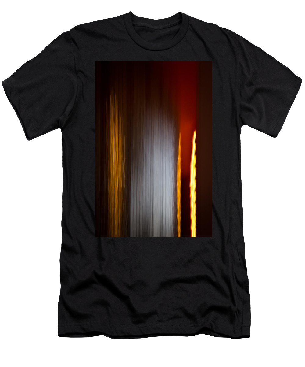 Motion Blur Men's T-Shirt (Athletic Fit) featuring the photograph Blur City by Dayne Reast