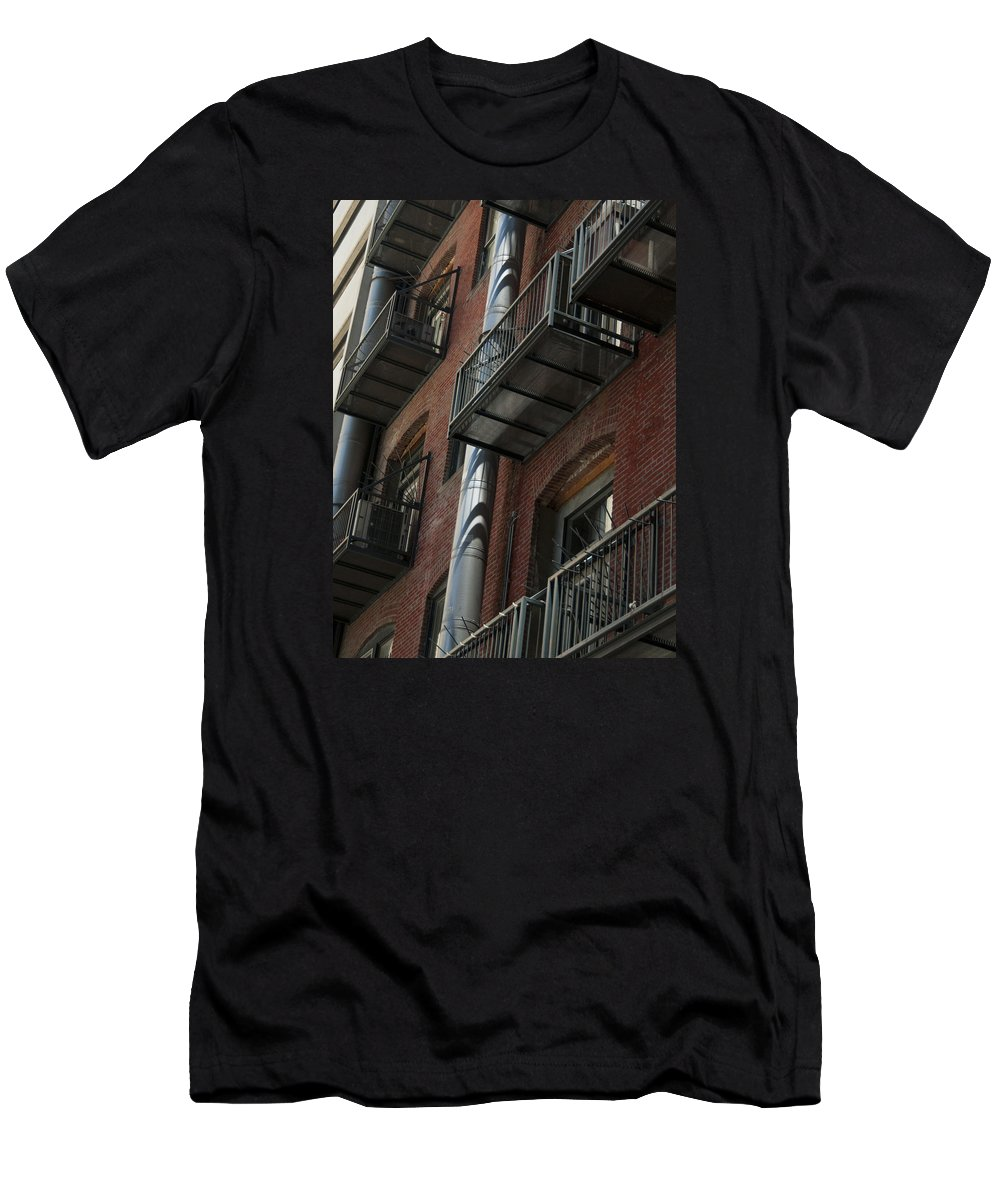 Denver Men's T-Shirt (Athletic Fit) featuring the photograph Denver Street Scenes by Lee Roth