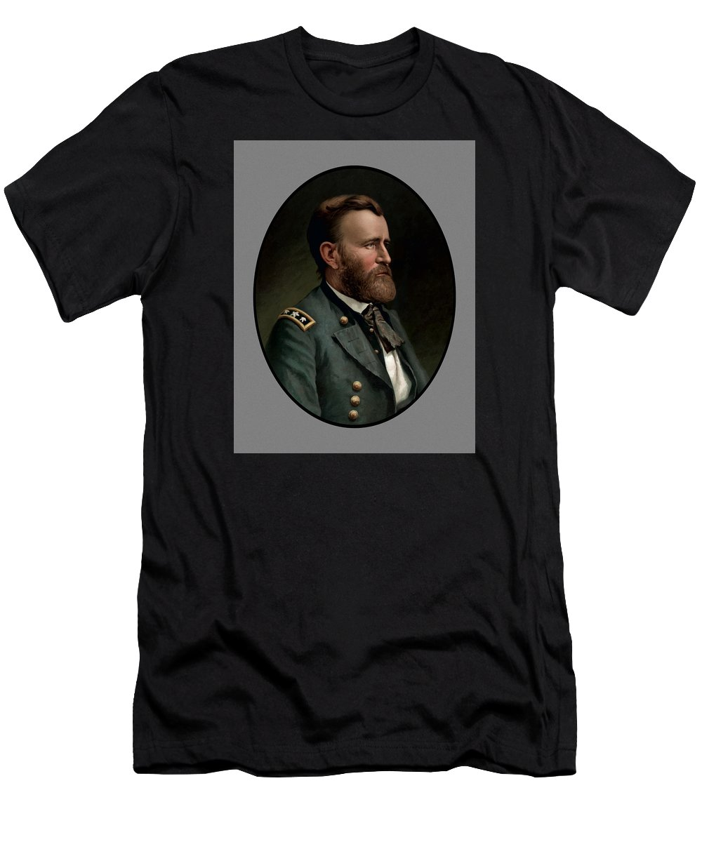 Civil War Men's T-Shirt (Athletic Fit) featuring the painting General Grant - Three by War Is Hell Store