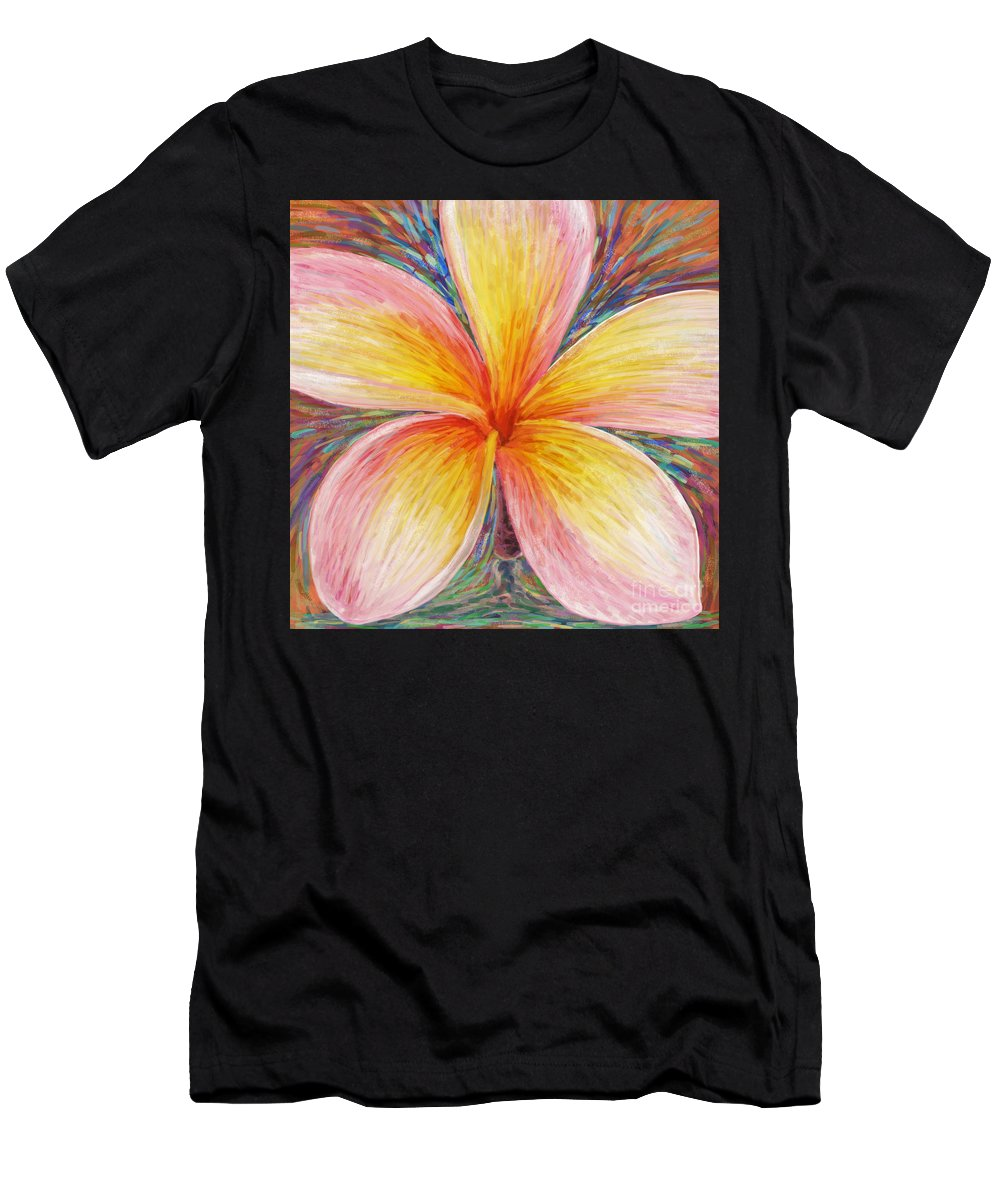 Aloha Men's T-Shirt (Athletic Fit) featuring the painting Leelawadee by Atiketta Sangasaeng