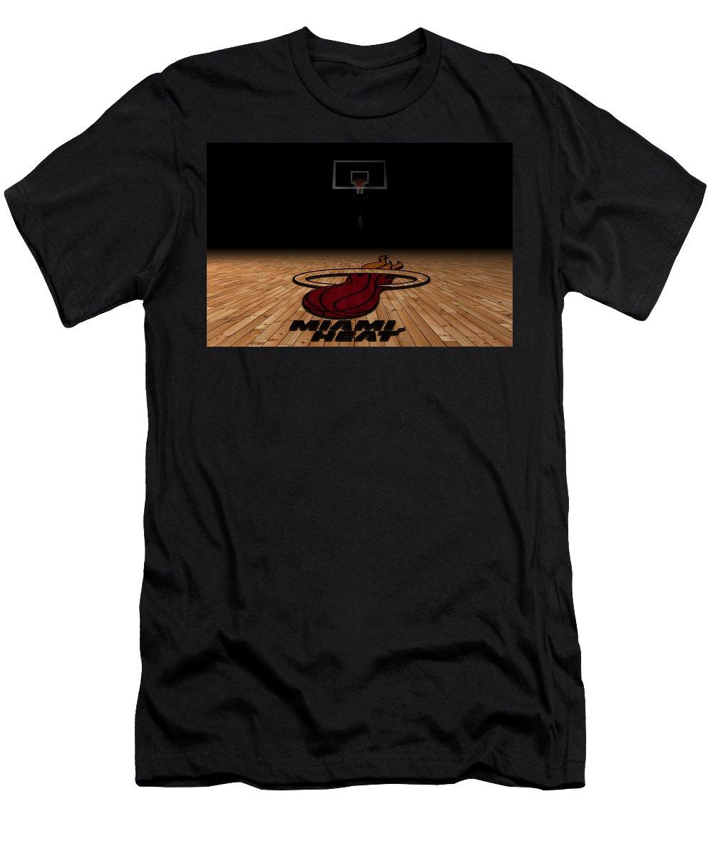 Heat Men's T-Shirt (Athletic Fit) featuring the photograph Miami Heat by Joe Hamilton