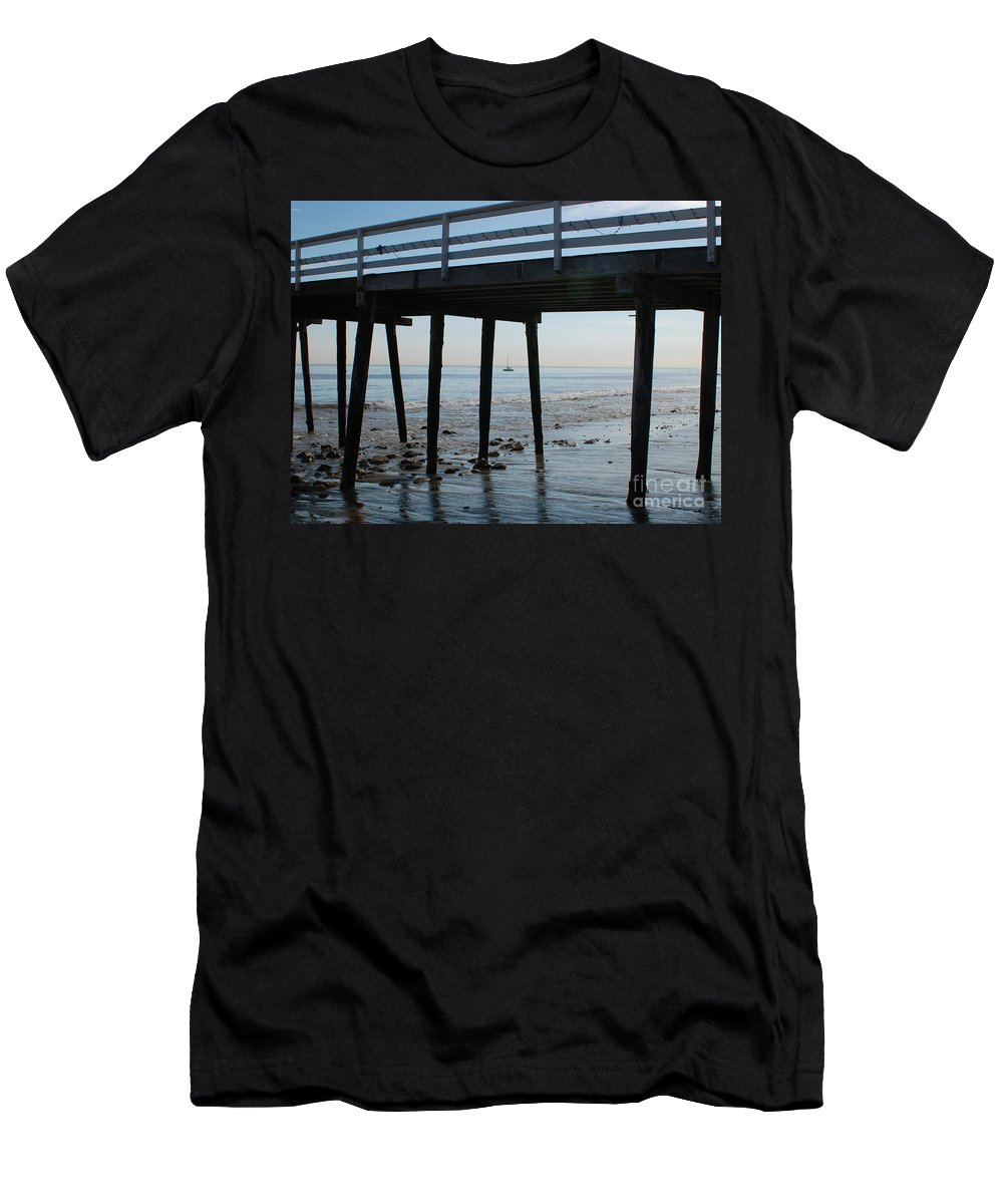 Paradise Cove Men's T-Shirt (Athletic Fit) featuring the photograph New Photographic Art Print For Sale Paradise Cove by Toula Mavridou-Messer