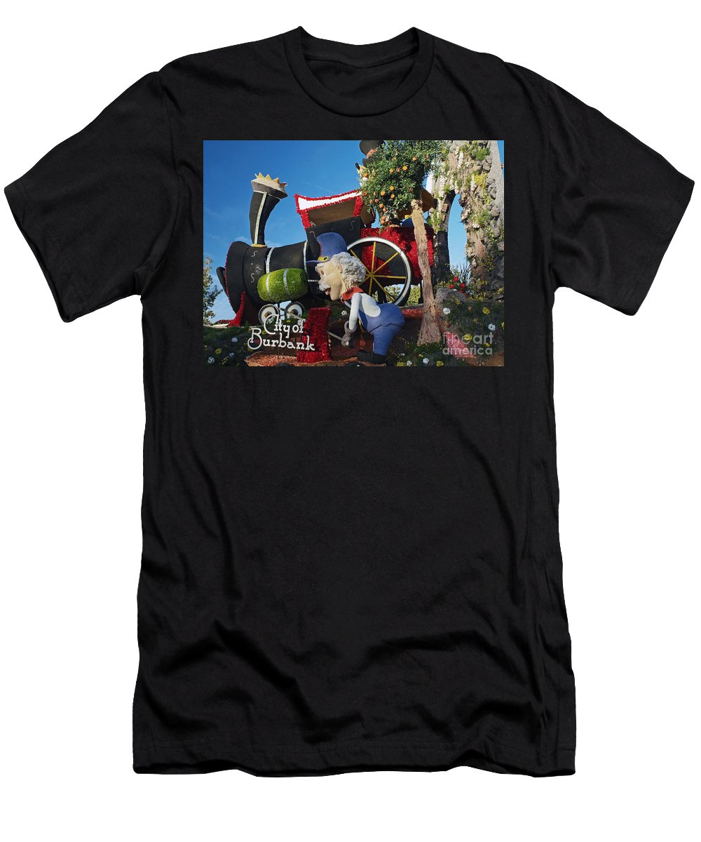 America Men's T-Shirt (Athletic Fit) featuring the photograph Rose Parade by Howard Stapleton