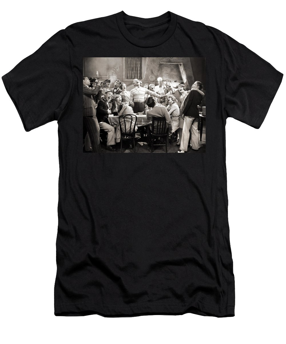 1920s Men's T-Shirt (Athletic Fit) featuring the photograph Silent Still: College by Granger