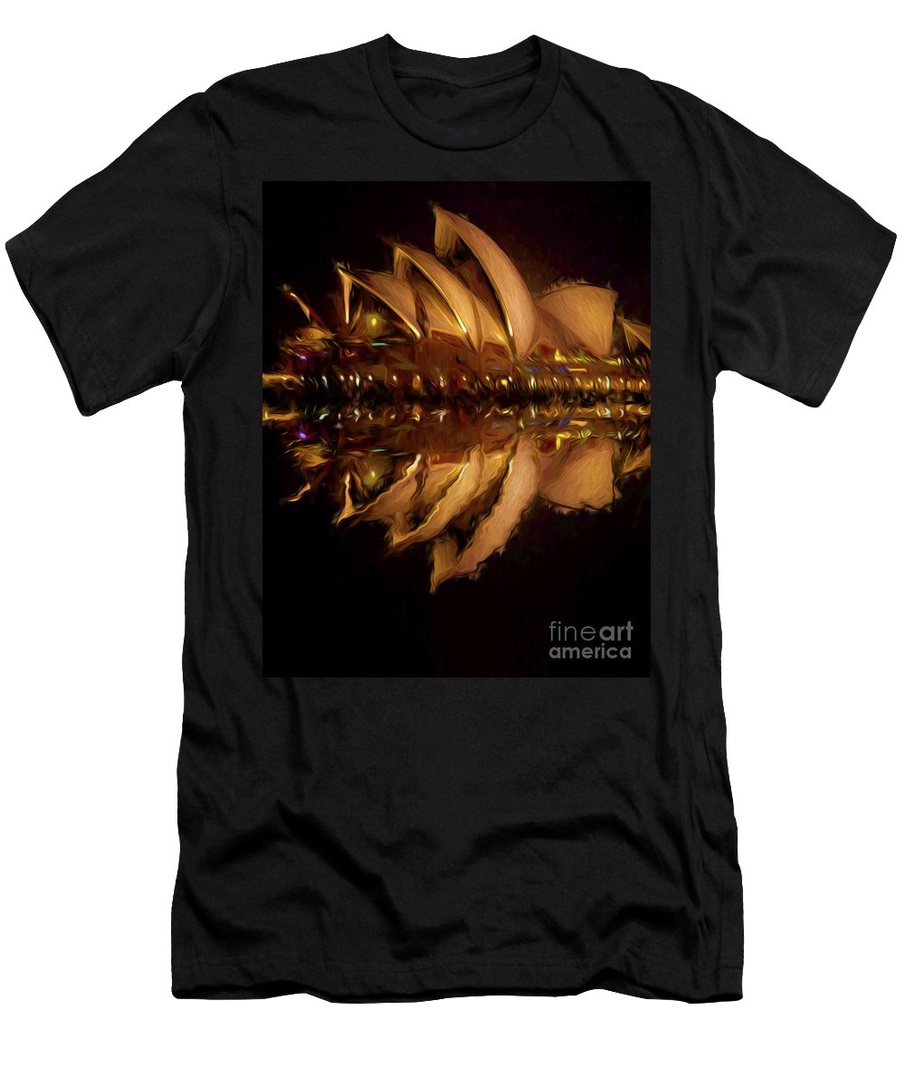 Sydney Harbour T-Shirt featuring the photograph Sydney Opera House abstract by Sheila Smart Fine Art Photography
