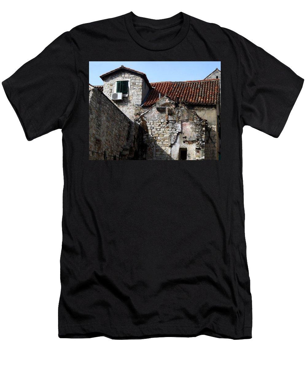 Split Croatia Men's T-Shirt (Athletic Fit) featuring the photograph Views Of Split Croatia by Richard Rosenshein
