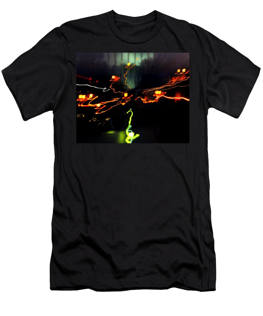 Lights Men's T-Shirt (Athletic Fit) featuring the photograph Untitled by Gene Tatroe