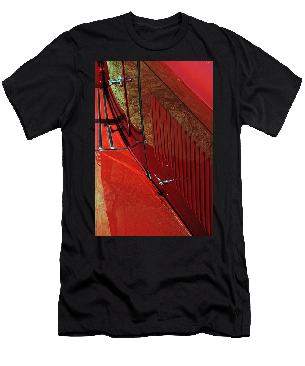 Red Men's T-Shirt (Athletic Fit) featuring the photograph 49 Mg Tc by Skip Willits